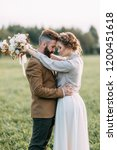 wedding in american style  on a ... | Shutterstock . vector #1200451618