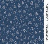 christmas tree seamless pattern.... | Shutterstock .eps vector #1200458392