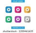 photography icon vector logo... | Shutterstock .eps vector #1200461635