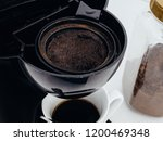 used coffee grounds in coffee... | Shutterstock . vector #1200469348