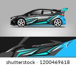 racing car wrap design. sedan... | Shutterstock .eps vector #1200469618