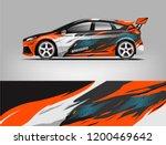 racing car wrap design. sedan... | Shutterstock .eps vector #1200469642