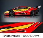 racing car wrap design. sport... | Shutterstock .eps vector #1200470995