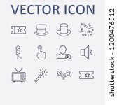 outline 12 show icon set.... | Shutterstock .eps vector #1200476512