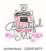 typography slogan with perfume... | Shutterstock .eps vector #1200476875