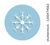 snowflake icon in badge style....