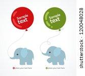 Stock vector elephant 120048028