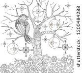 doodle winter drawing. art...   Shutterstock .eps vector #1200484288
