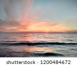 sunset over adriatic sea  durr... | Shutterstock . vector #1200484672