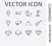 outline 12 rock icon set.... | Shutterstock .eps vector #1200486472