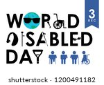 december 3   world disability... | Shutterstock .eps vector #1200491182