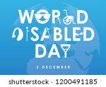 december 3   world disability... | Shutterstock .eps vector #1200491185