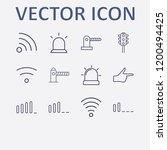 outline 12 signal icon set.... | Shutterstock .eps vector #1200494425