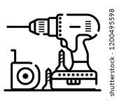 drill vector icon. illustration  | Shutterstock .eps vector #1200495598