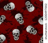 decorative horror seamless... | Shutterstock .eps vector #1200497002