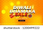 happy diwali poster  header ... | Shutterstock .eps vector #1200499222