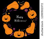 halloween wreath vector... | Shutterstock .eps vector #1200502372