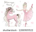 hand drawn beautiful cute... | Shutterstock .eps vector #1200505522