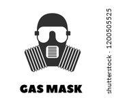 vector gas mask icon  | Shutterstock .eps vector #1200505525
