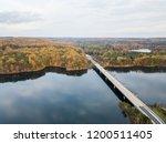 aerial of loch raven reservoir... | Shutterstock . vector #1200511405