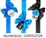 set of decorative vertical blue ... | Shutterstock .eps vector #1200512728