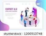 isometric online voice... | Shutterstock .eps vector #1200513748