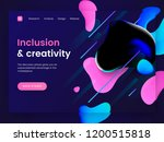 dark landing page template with ...