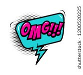 omg    comic style phrase with... | Shutterstock .eps vector #1200520225