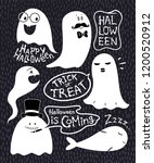 lettering and funny halloween... | Shutterstock .eps vector #1200520912
