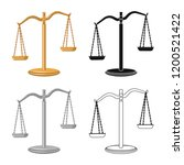 isolated object of law and... | Shutterstock .eps vector #1200521422