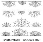 spiderweb frame  border ... | Shutterstock .eps vector #1200521482