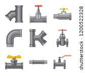 isolated object of pipe and... | Shutterstock .eps vector #1200522328