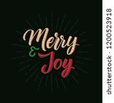 merry and joy. merry christmas... | Shutterstock .eps vector #1200523918
