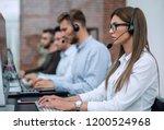 young employee call center... | Shutterstock . vector #1200524968