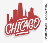 chicago illinois usa cityscape...   Shutterstock .eps vector #1200525982
