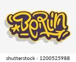 berlin germany  urban label...   Shutterstock .eps vector #1200525988