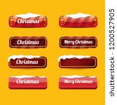 christmas vector red glossy... | Shutterstock .eps vector #1200527905