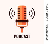 podcast radio icon illustration.... | Shutterstock .eps vector #1200531448