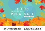 autumn sale background layout... | Shutterstock .eps vector #1200531565