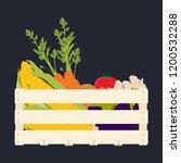 vector illustration wooden box... | Shutterstock .eps vector #1200532288