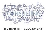 design concept for consulting.... | Shutterstock .eps vector #1200534145