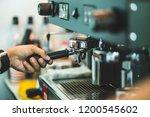 barista machine coffee barista... | Shutterstock . vector #1200545602