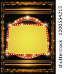 poster template with retro...   Shutterstock .eps vector #1200554215