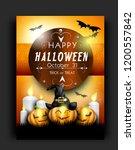 template for halloween poster... | Shutterstock . vector #1200557842