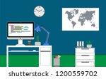 home office concept. java... | Shutterstock .eps vector #1200559702