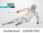 silhouette of a skier jumping... | Shutterstock .eps vector #1200567352