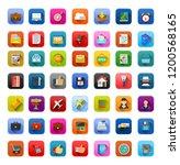 vector business icons set  ... | Shutterstock .eps vector #1200568165