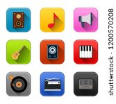 vector sound music icons  ... | Shutterstock .eps vector #1200570208
