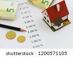 interest rates written on white ... | Shutterstock . vector #1200571105