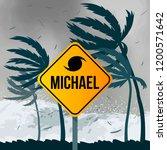 tornado hurricane michael ... | Shutterstock .eps vector #1200571642